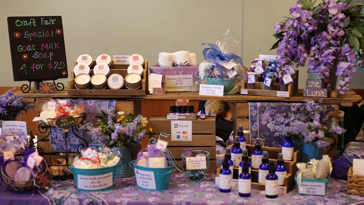 display of soaps
