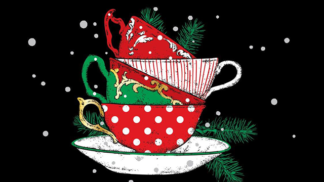 Holiday tea cups