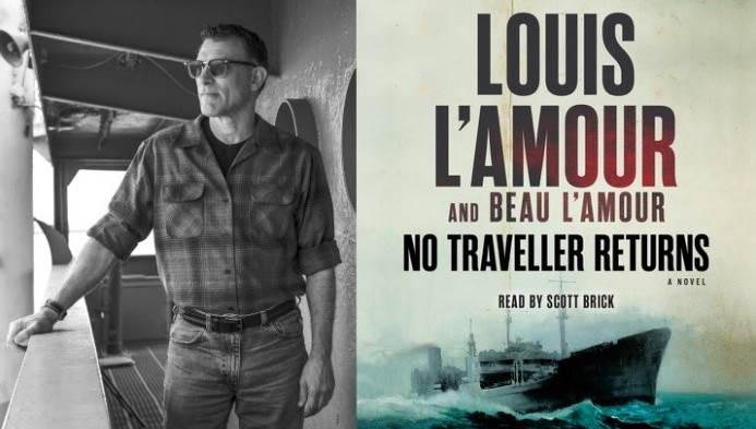 Louis L'Amour and book poster
