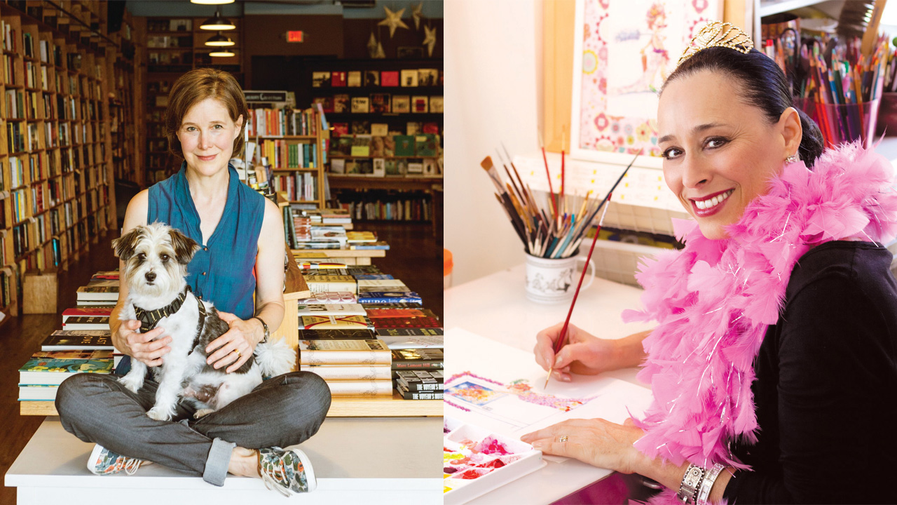 illustrator Robin Preiss Glasser and author Ann Patchett