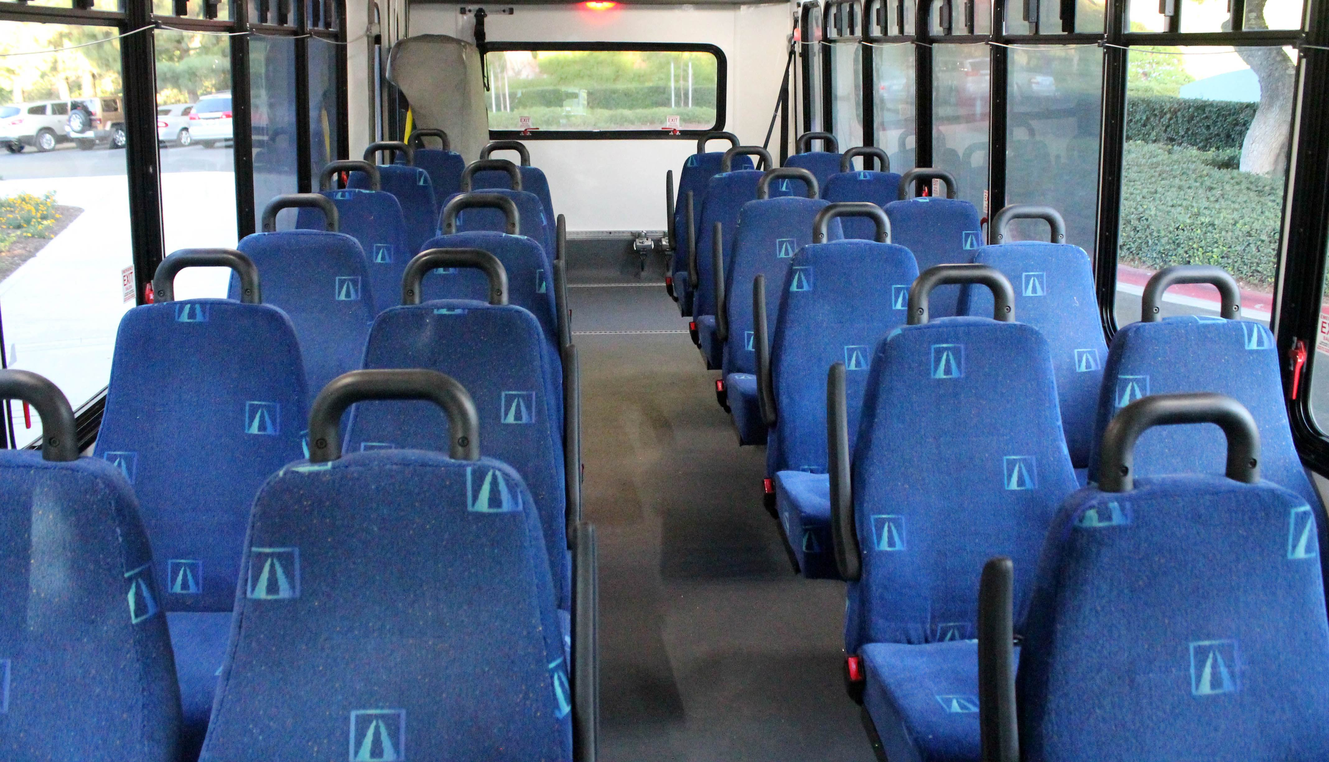 seats inside bus