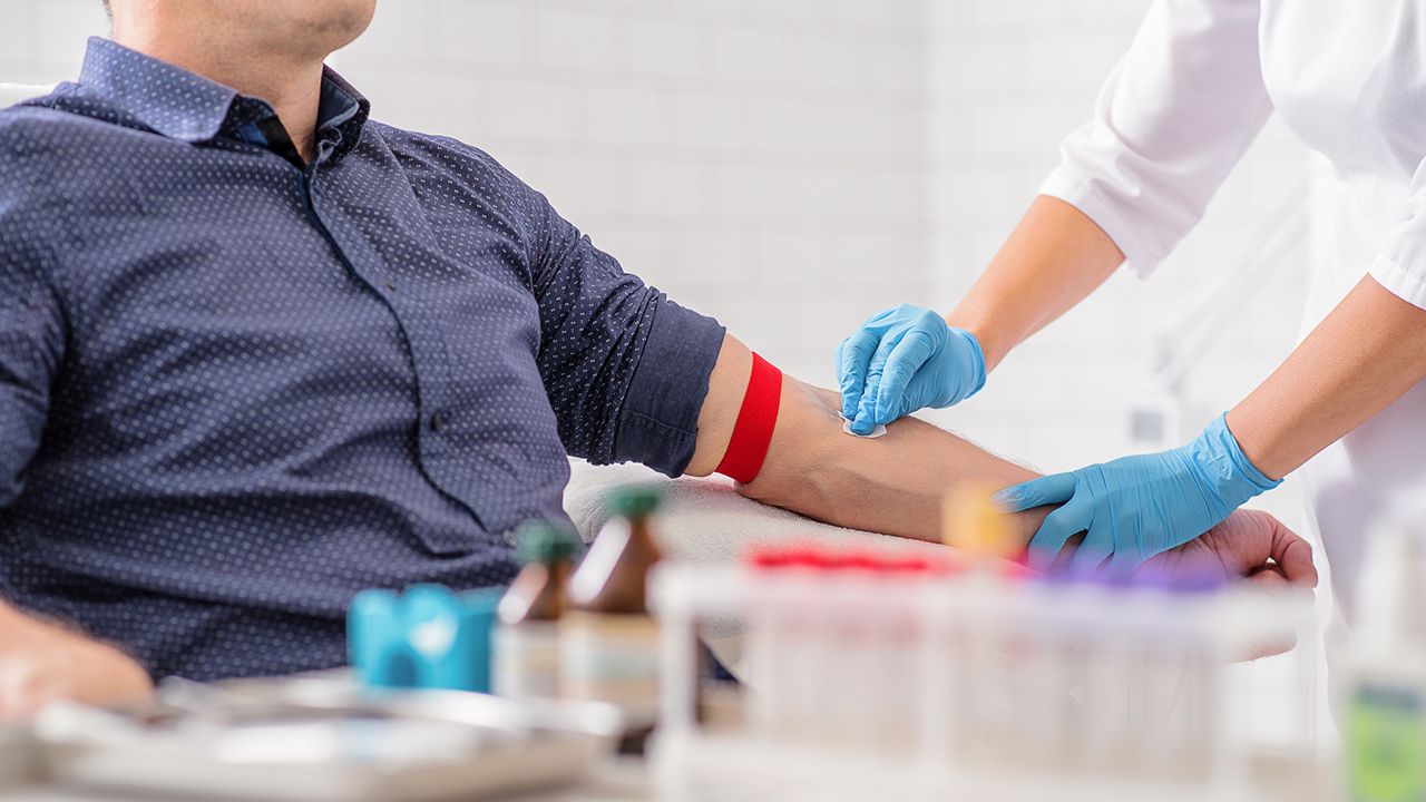 person getting blood drawn