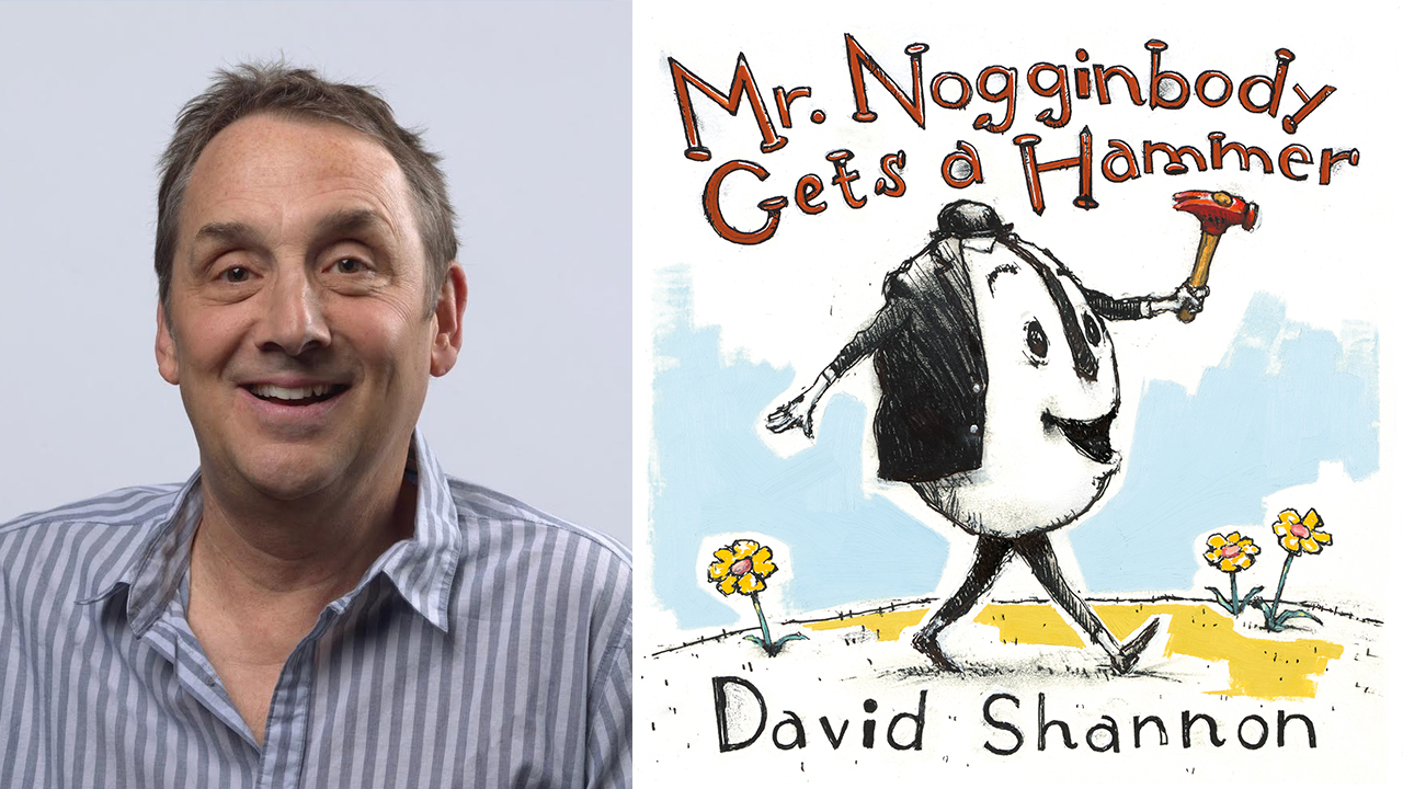 Mr. Nogginbody Gets a Hammer book cover and david shannon