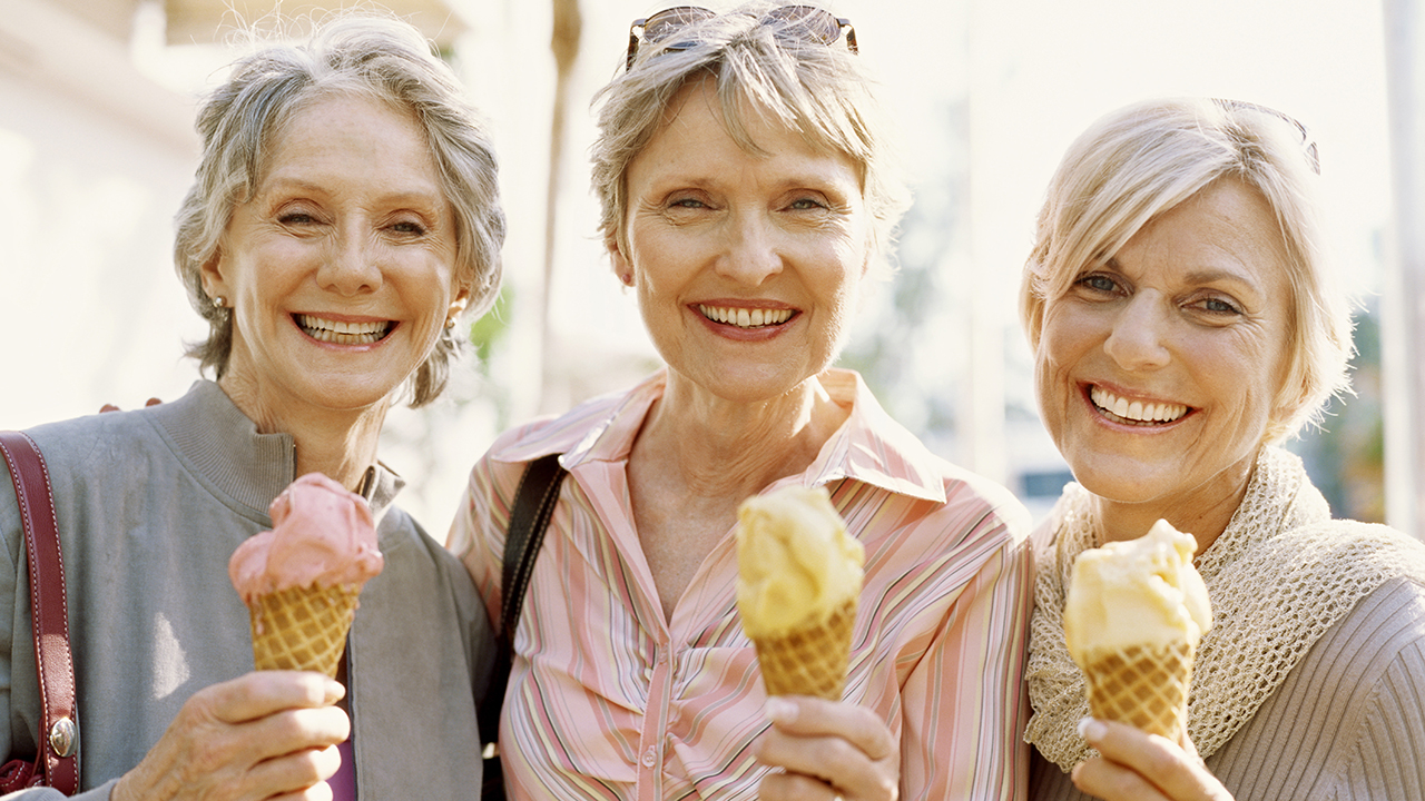 seniors with icecream