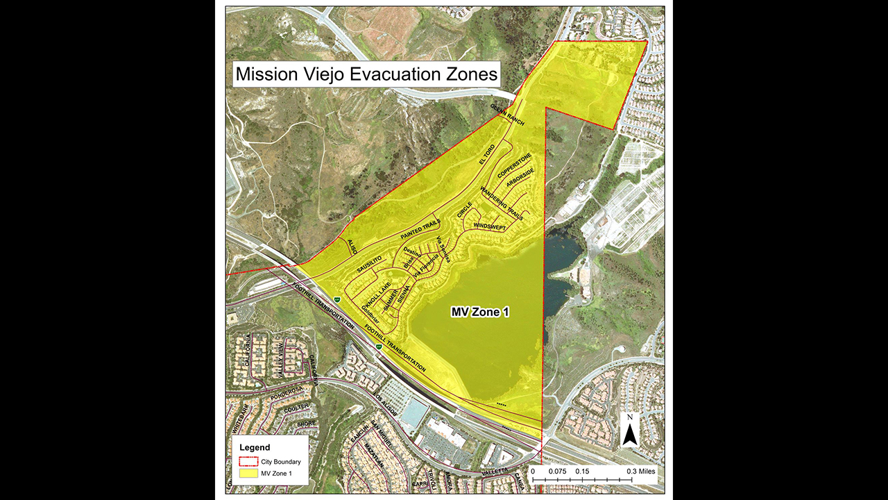 evacuation zone 1