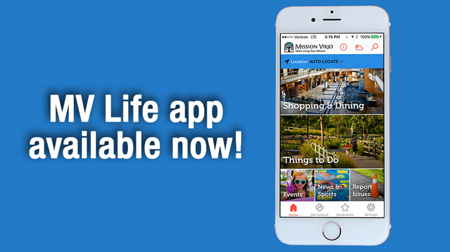 City of Mission Viejo launches new MV Life app | City of Mission Viejo