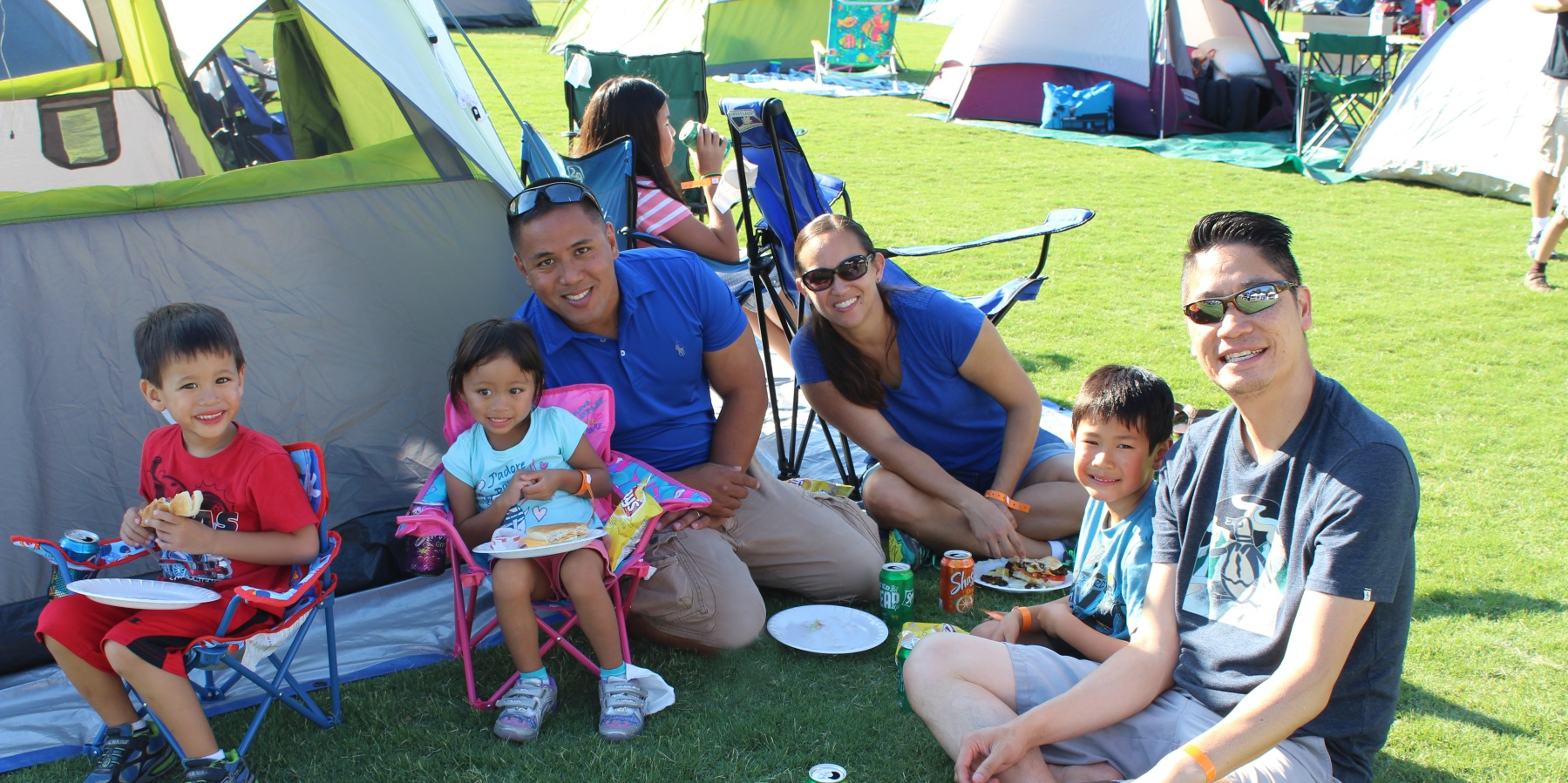 family at campout