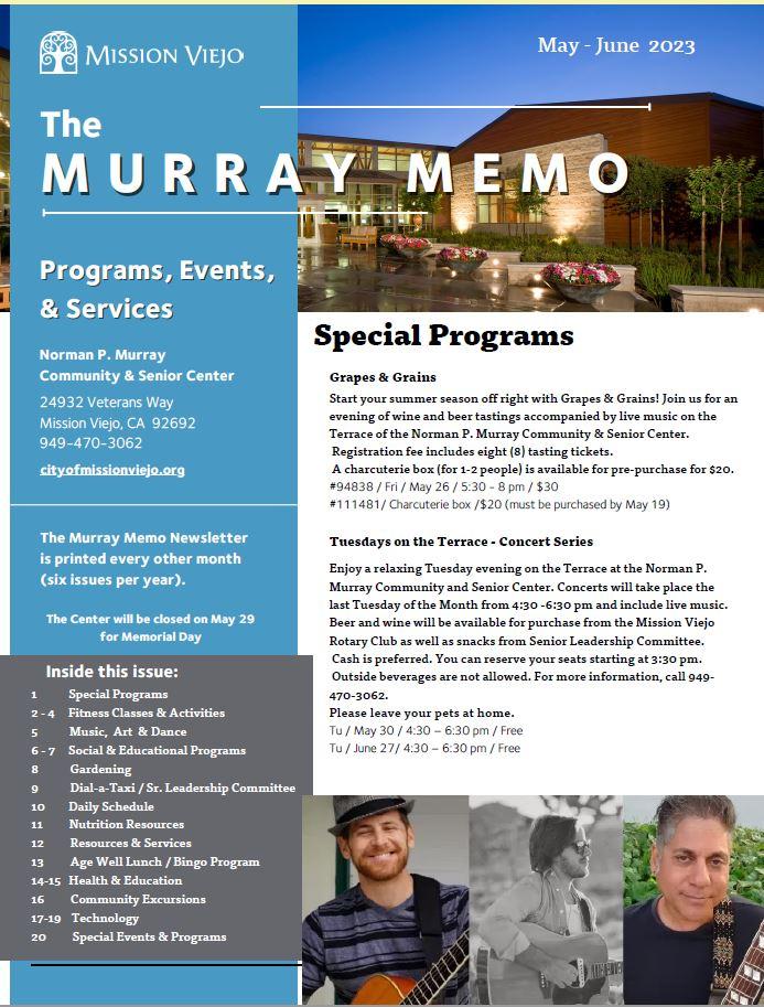 Murray Memo Past Cover